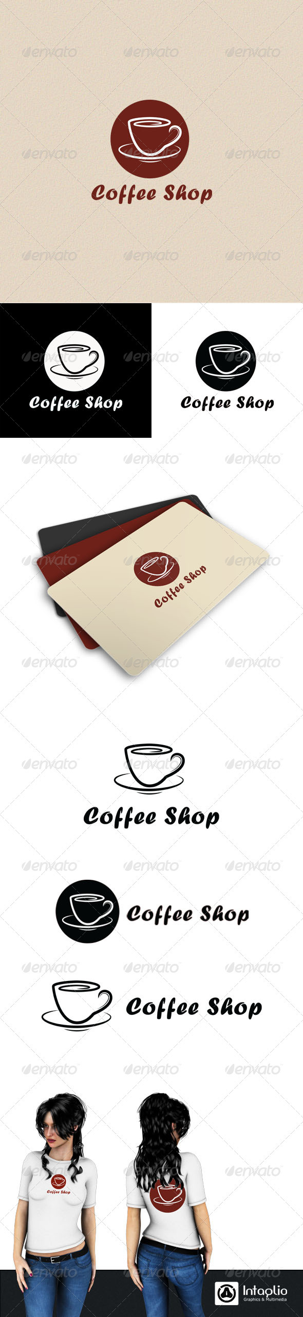 Graphic River Coffee Shop Logo Logo Templates -  Objects 714841