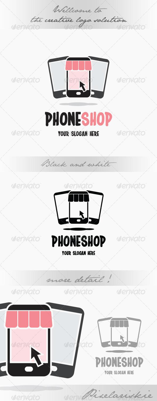 GraphicRiver Phone Shop Online Logo 8662172