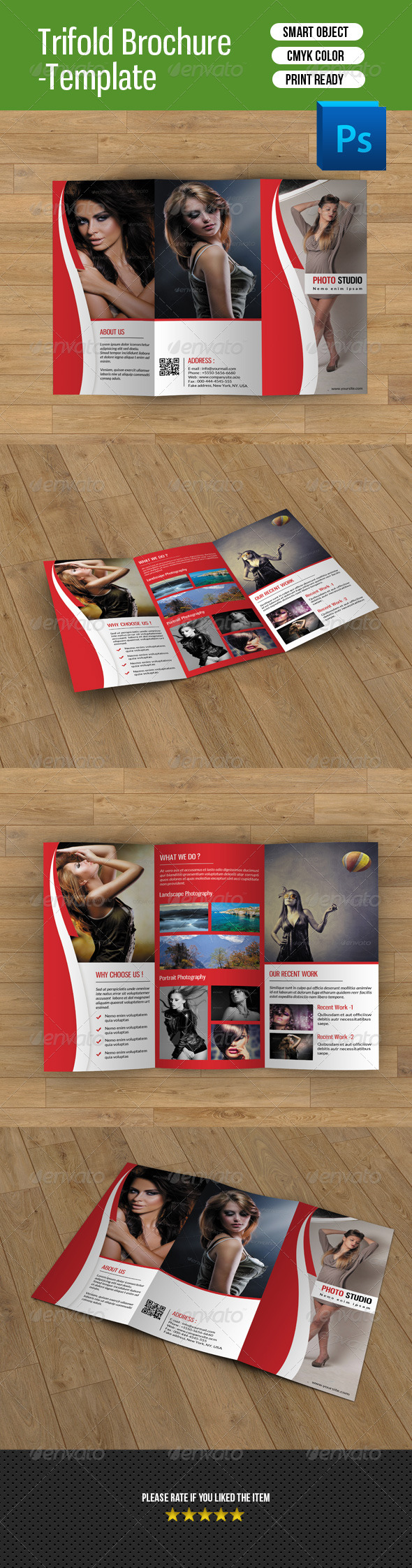 Trifold Brochure for Photography-V56