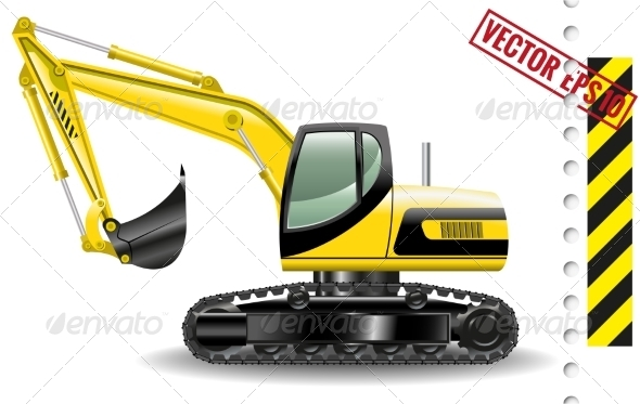 GraphicRiver Excavator 8662457