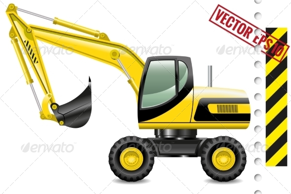 GraphicRiver Excavator 8662545