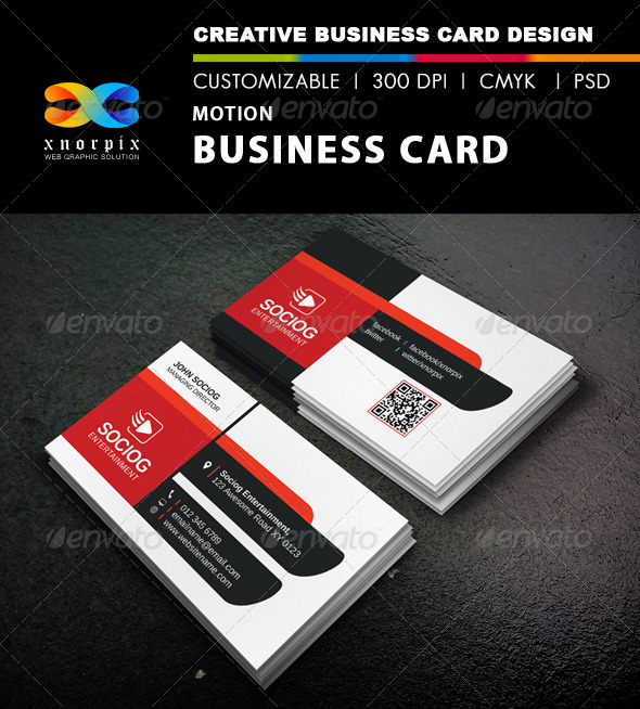 GraphicRiver Motion Business Card 8663715