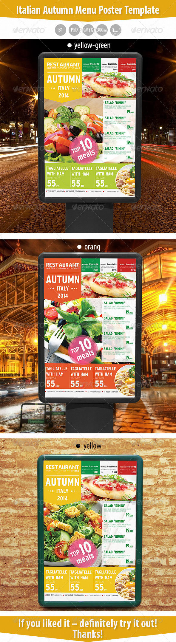 GraphicRiver Italian Autumn Menu Poster Template 8663729