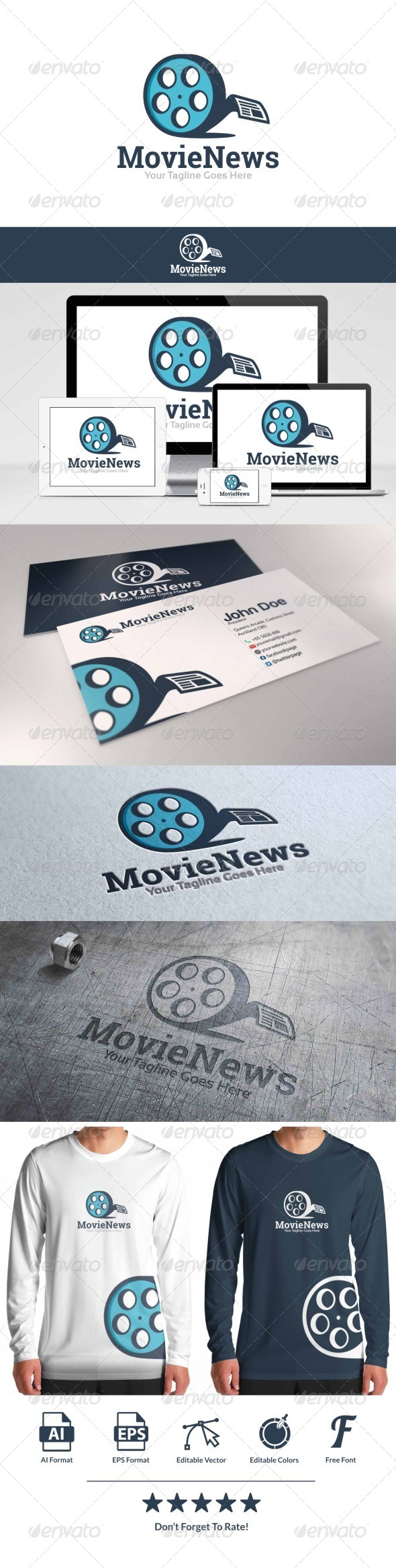 GraphicRiver Movie News Logo 8663948