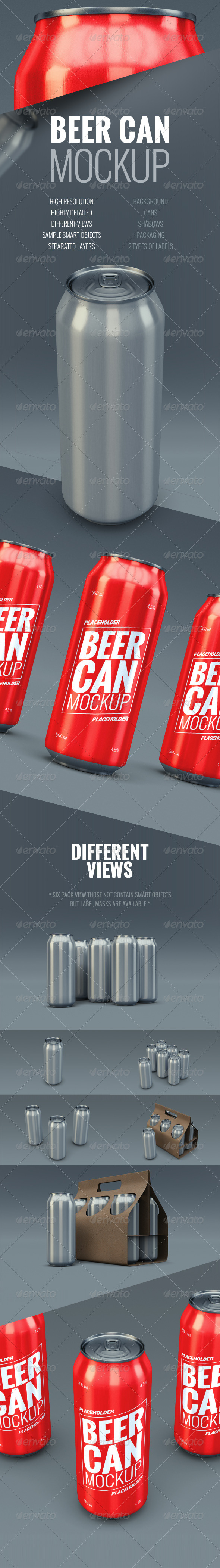 GraphicRiver Beer Can Mockup 8545825