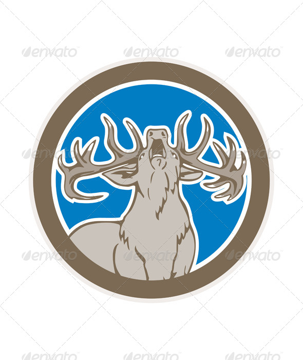 GraphicRiver Stag Deer Roaring 8663960