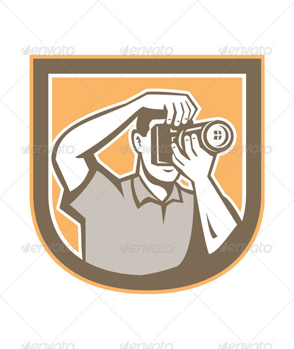GraphicRiver Photographer Retro Shield 8664003