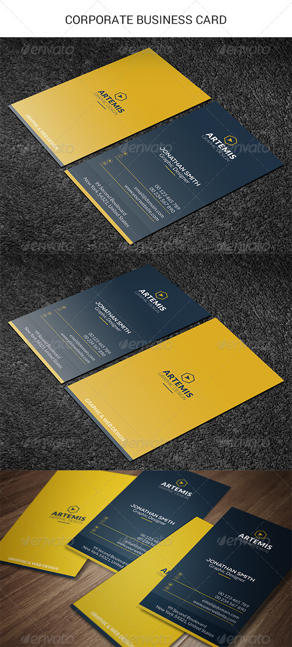 GraphicRiver Vertical Business Card 8664034