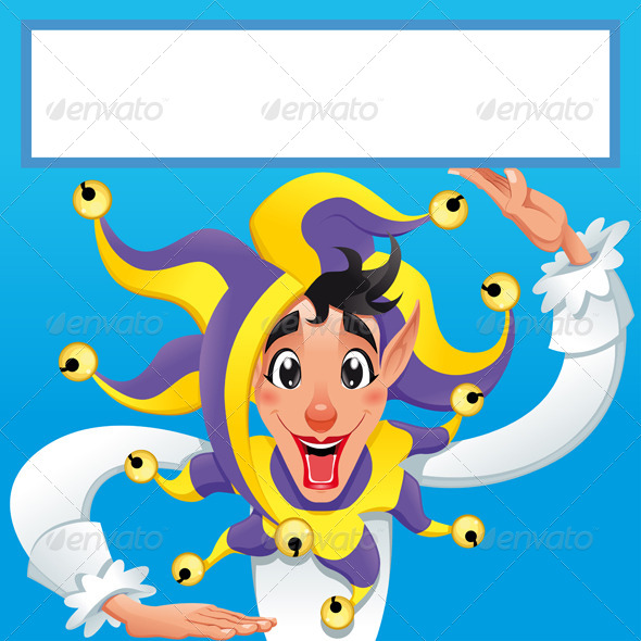 GraphicRiver Funny Joker Smiling with White Frame 8664062