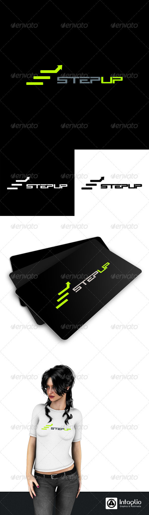 StepUp Logo Template - Vector Abstract