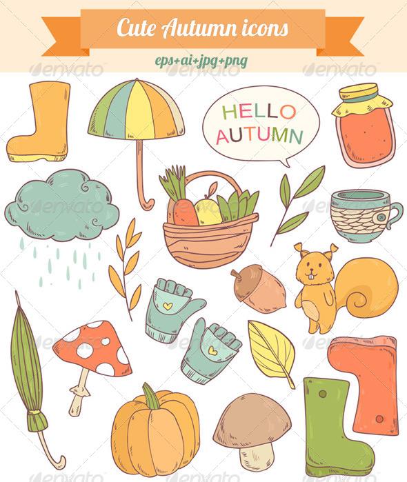 GraphicRiver Autumn Icons 8664072