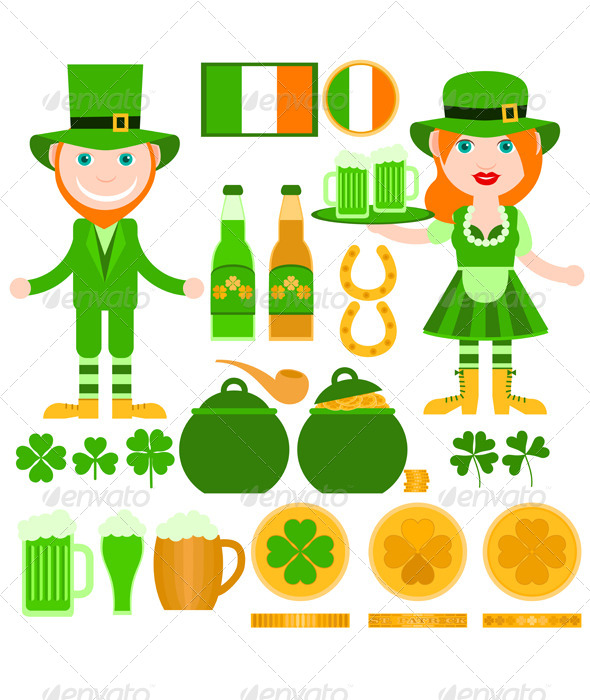 GraphicRiver Set of Saint Patrick s Day Related Elements 8664232