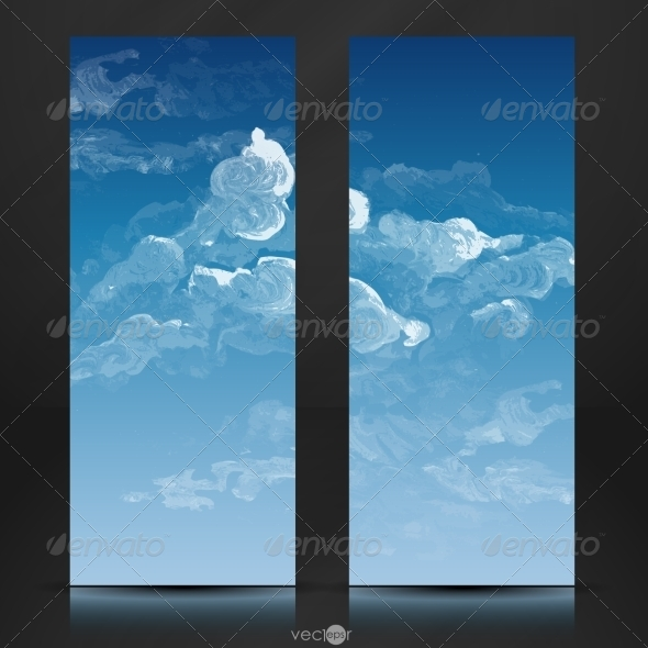 GraphicRiver Cloud Sky Painted Background 8664296