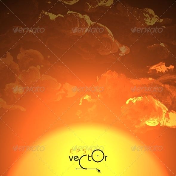 GraphicRiver Sunset Sunrise With Clouds 8664301
