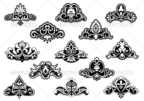 GraphicRiver Decorative Floral Design Elements and Motifs 8664318