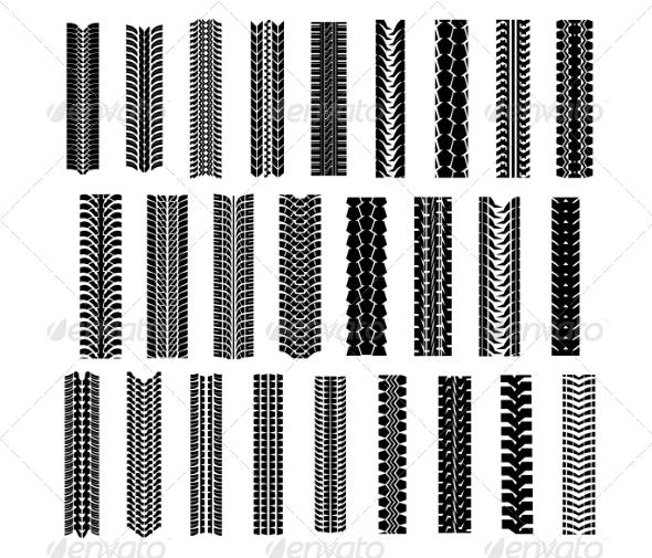 GraphicRiver Tire Shapes Set 8664336