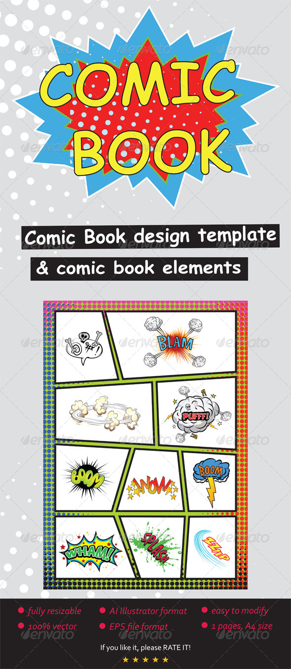 GraphicRiver Comic Book Elements & Template 8664467