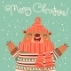 Christmas Card with a Cute Brown Bear - GraphicRiver Item for Sale