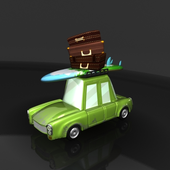 Travel Cartoon Car - 3DOcean Item for Sale