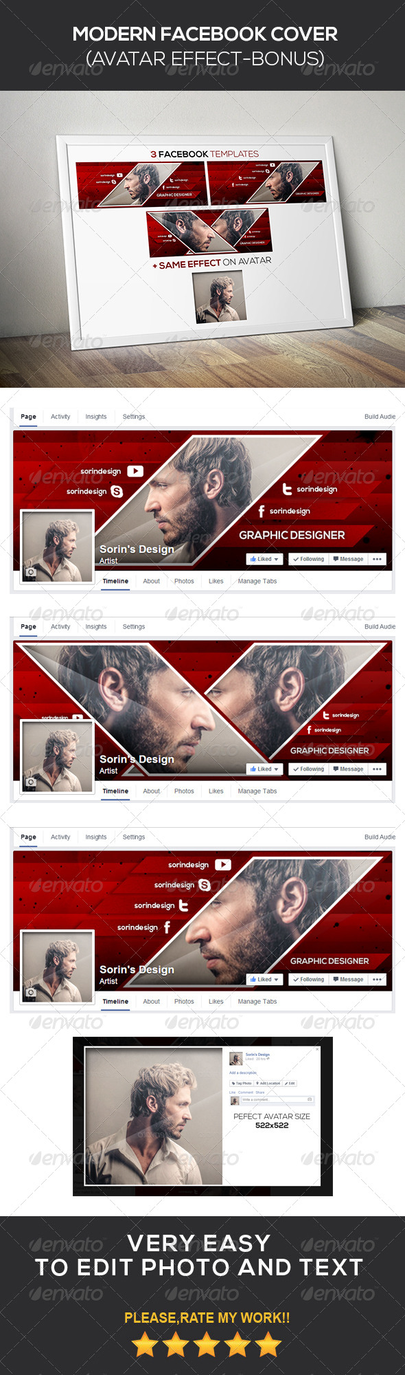 GraphicRiver Modern Facebook Cover 8664610