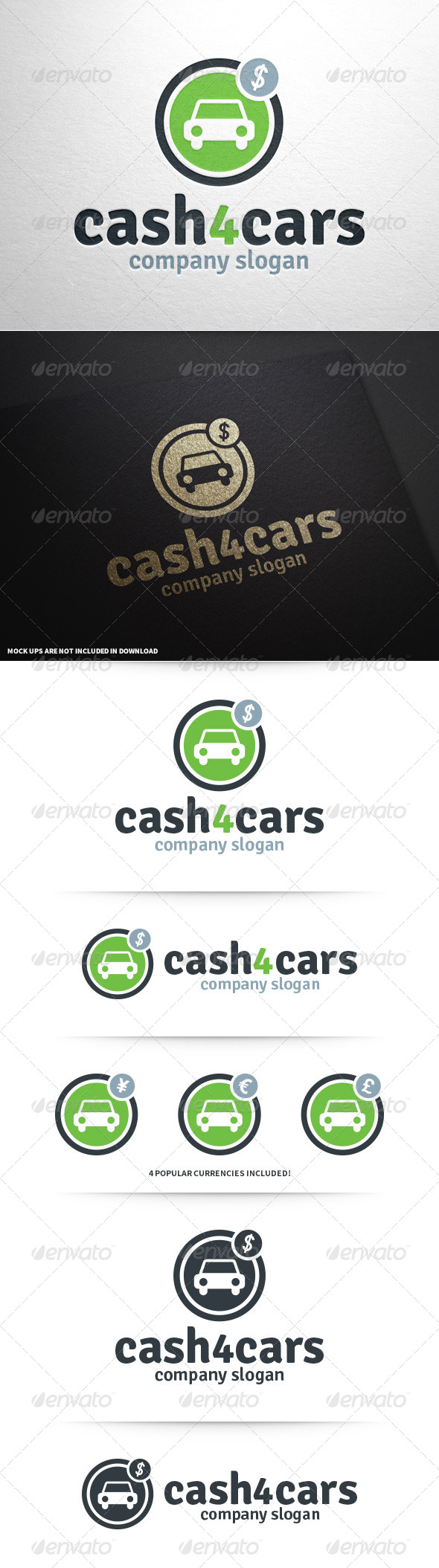 GraphicRiver Cash 4 Cars Logo Template 8664615