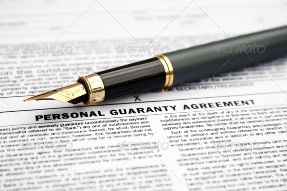 Personal guaranty agreement - Stock Photo - Images
