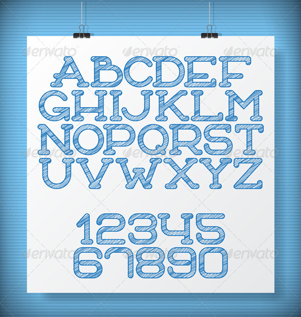 GraphicRiver Sketch Letters 8664616