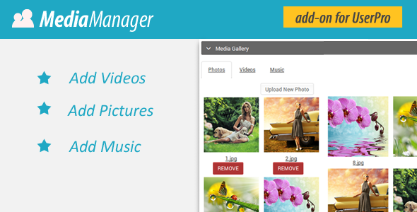 CodeCanyon Media Manager for UserPro 8664618