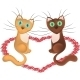 Cartoon Cats in Love - GraphicRiver Item for Sale