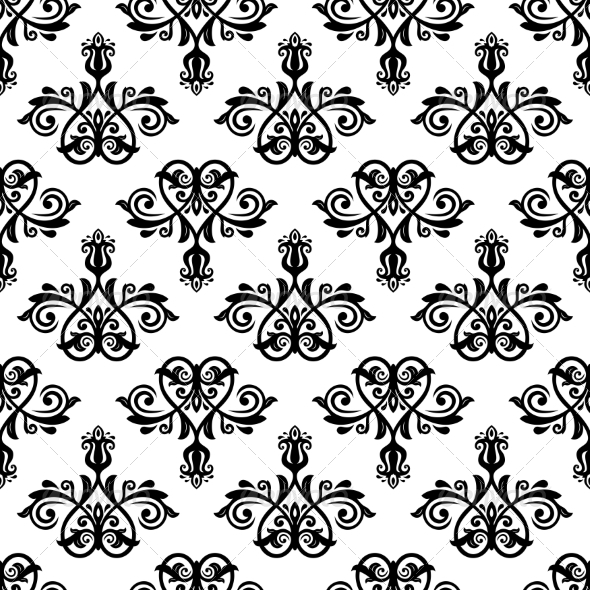 GraphicRiver Damask Seamless Pattern 8664637