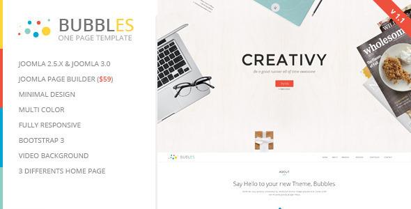 Bubbles - Parallax One Page Joomla Template - Creative Joomla