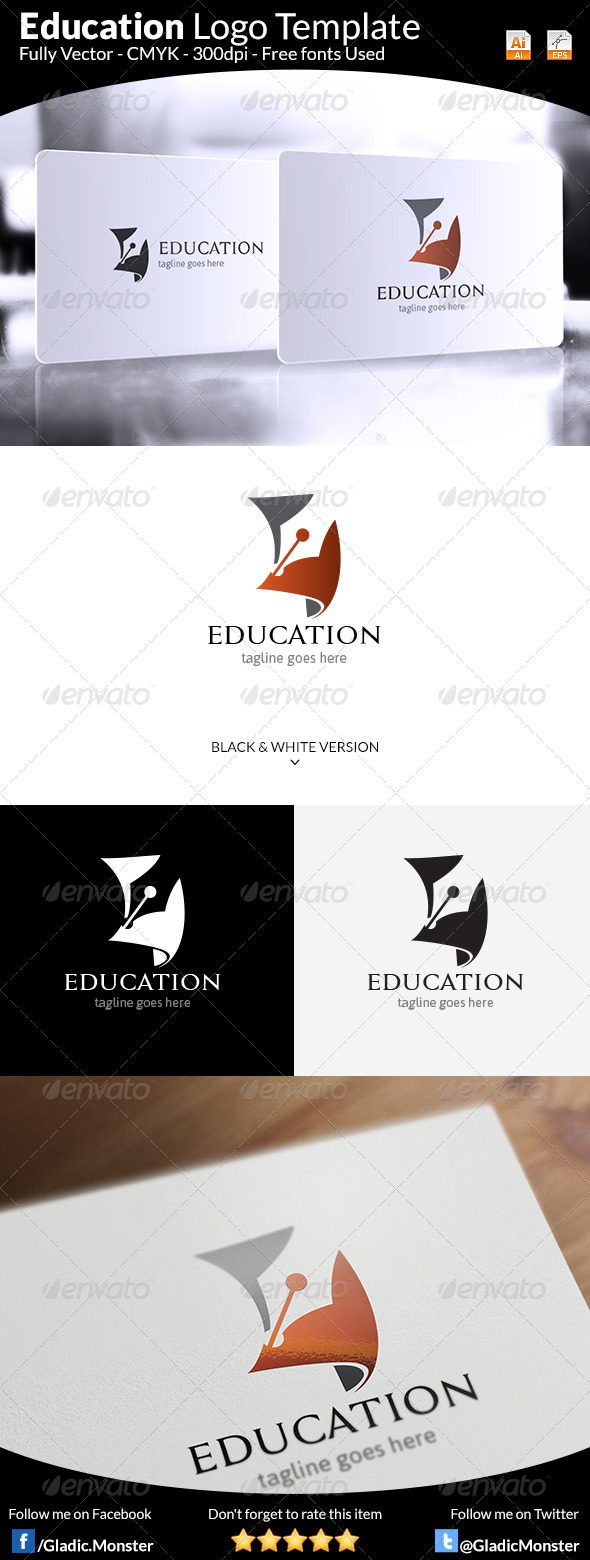GraphicRiver Education Logo Template 8664663