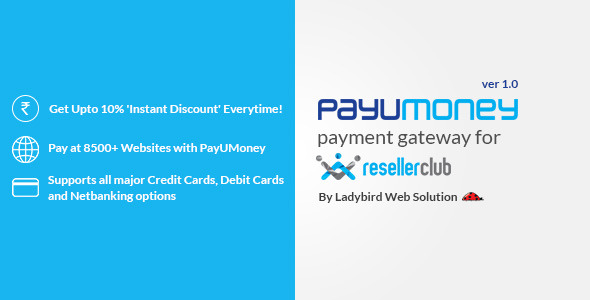 CodeCanyon Payu Money Payment gateway for Reseller Club 8664696