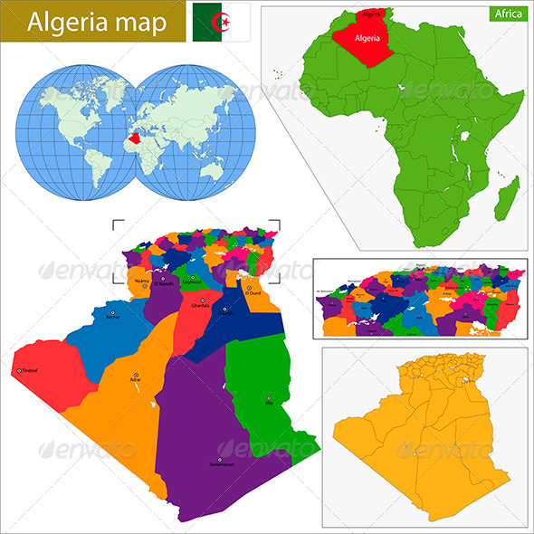 GraphicRiver Algeria Map 8664701