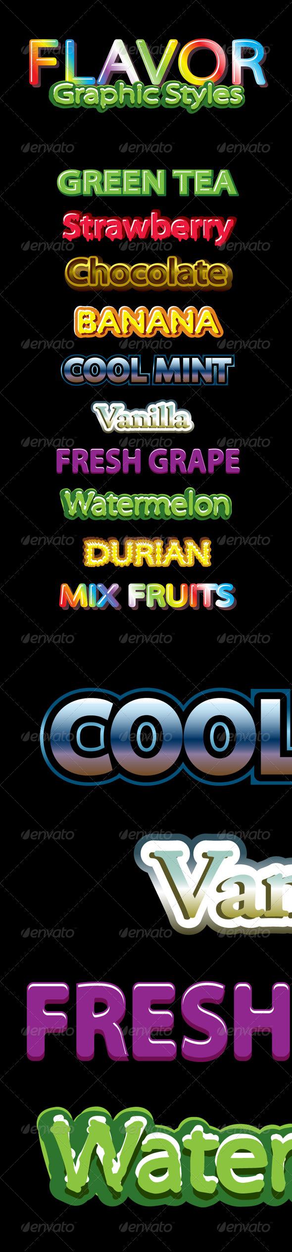 GraphicRiver Flavor Graphic Styles 8664708
