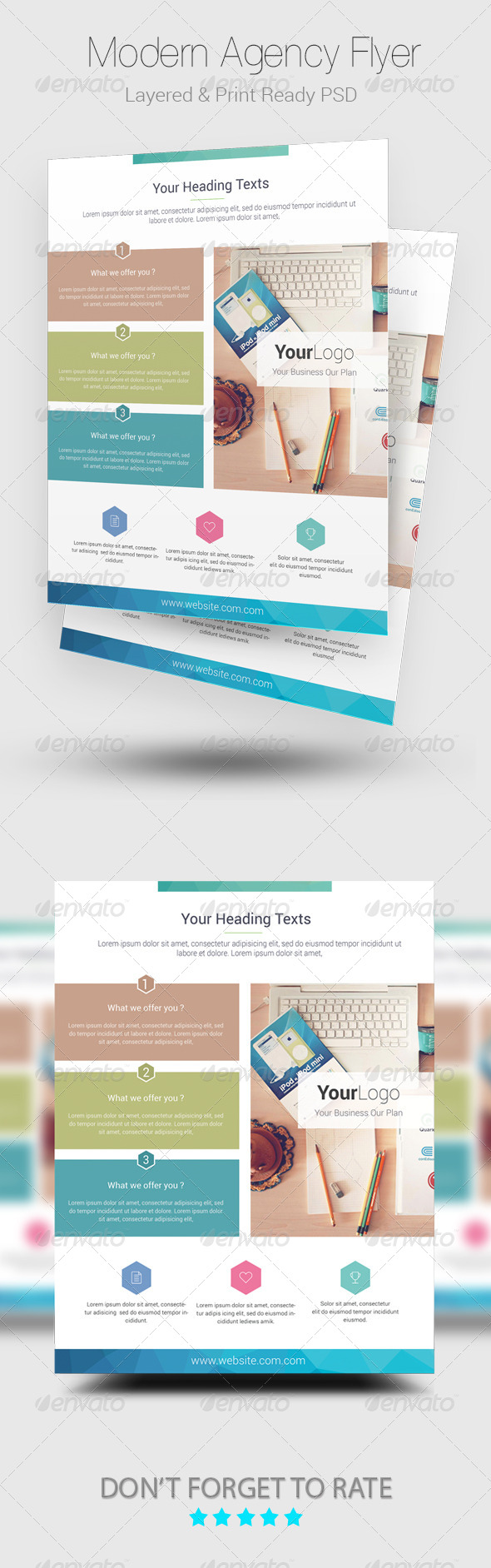 GraphicRiver Modern Agency Flyer Template 8664711