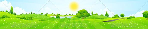 GraphicRiver Green Landscape 8664753