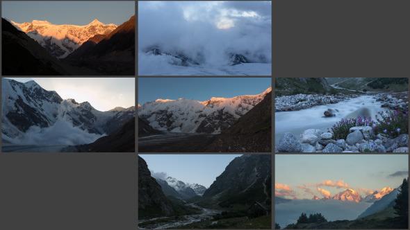Mountains Sunset-Sunrise 7-Pack