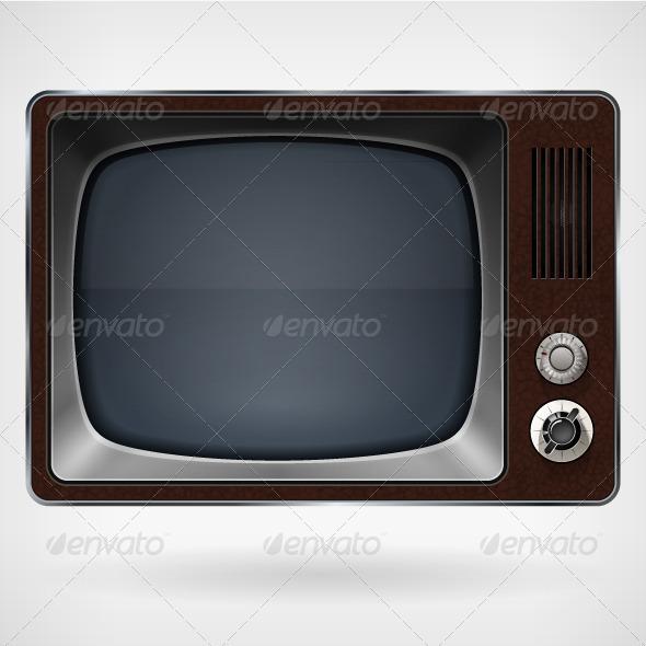 GraphicRiver Vintage TV Vector Illustration 8664924