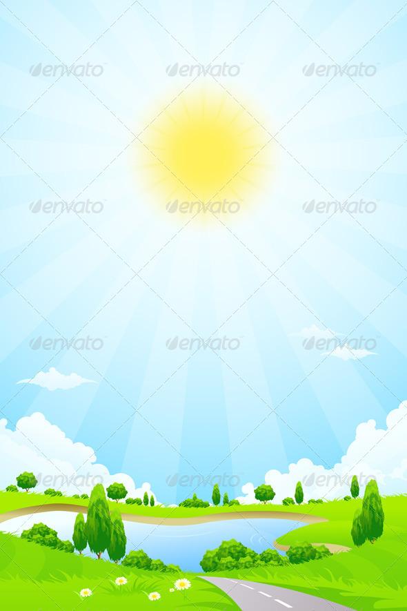 GraphicRiver Green Landscape 8666242