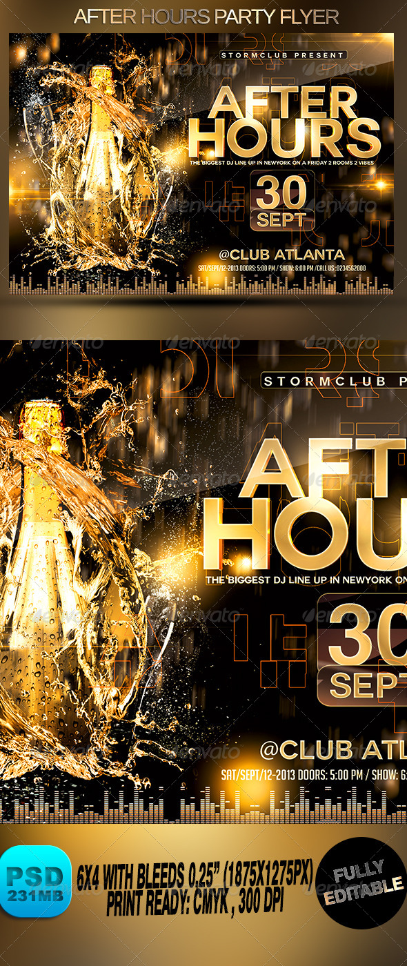 GraphicRiver After Hours Party Flyer 8670704