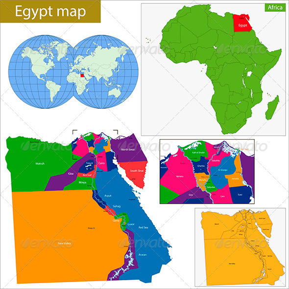 GraphicRiver Egypt Map 8672561