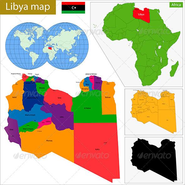 GraphicRiver Libya Map 8673357