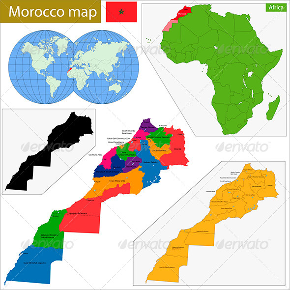 GraphicRiver Morocco Map 8674973