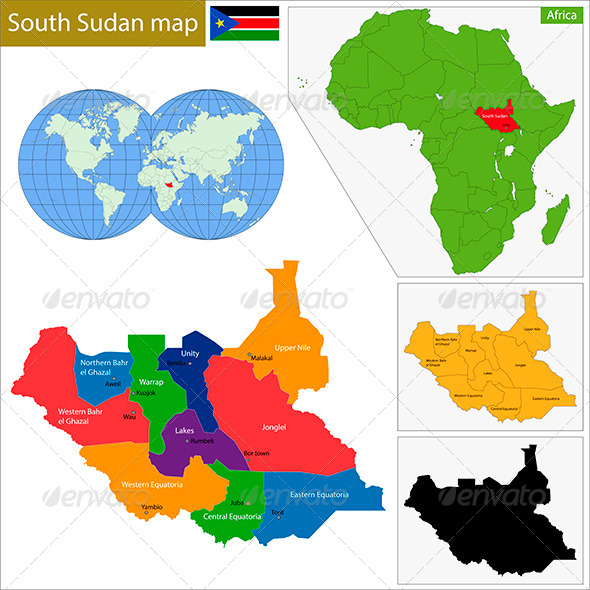 GraphicRiver South Sudan Map 8674988