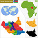 South Sudan Map - GraphicRiver Item for Sale