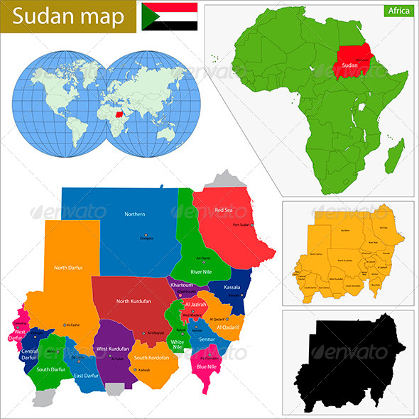 GraphicRiver Sudan Map 8675020