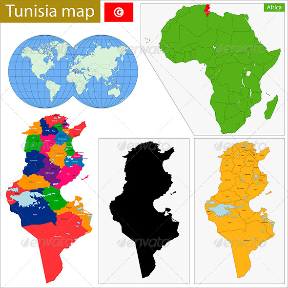 GraphicRiver Tunisia Map 8675771