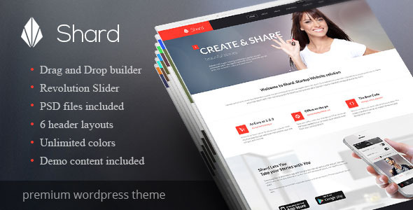 Shard - Multipurpose Business Parallax WP Theme - Business Corporate