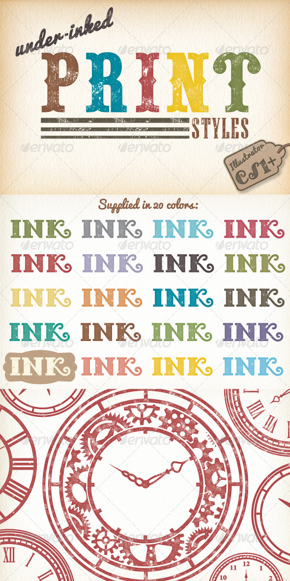GraphicRiver Under-Inked Print Styles 8675878